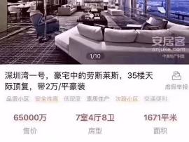 深圳湾1号项目1671㎡售价6.5亿元?假的!