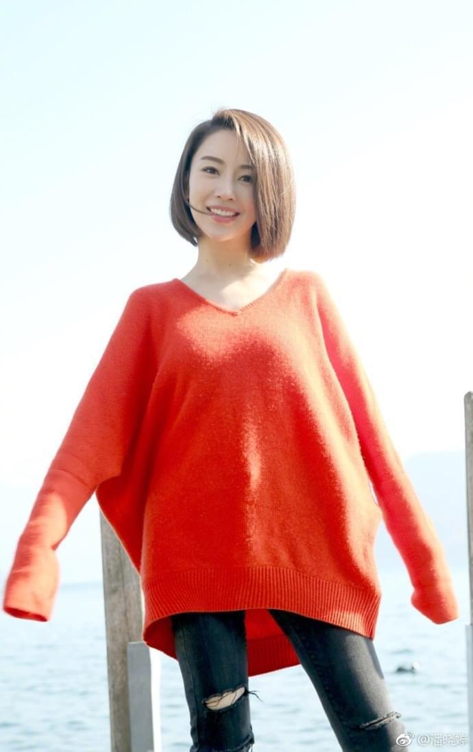 潘晓婷晒青春靓照似18岁少女 自评:婷在春天里