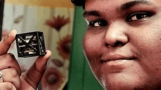 印度男孩设计出全球最轻卫星:轻如鸡蛋6月上天