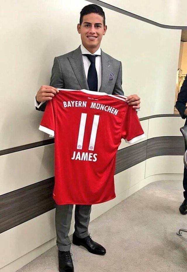 拜仁宣布J罗转会正式完成 26岁生日签约穿11号