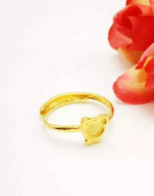 爱情里面的小天使:Q萌小熊戒指