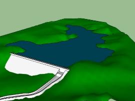 河津市瓜峪水库大坝正式完工封顶