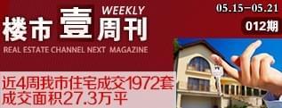壹周刊:第十二期 近4周我市住宅成交1972套 成交面积2