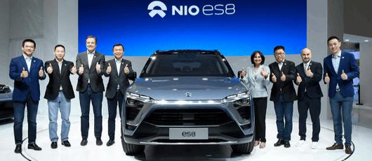 蔚来汽车携ES8等11辆车亚洲首秀