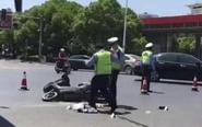 电动车和公交车相撞 电动车车主受伤严重