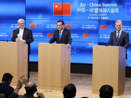 第十九次中国-欧盟领导人会晤成果清单公布