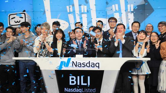 B站上市首日微跌2.26%,总市值31.3亿美元
