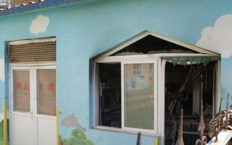 长治一网友实拍澳瑞特学校附属幼儿园起火视频