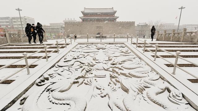 全国多地出现降雪天气