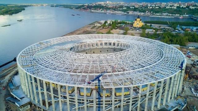 2018世界杯前瞻 俯瞰下诺夫哥罗德体育场