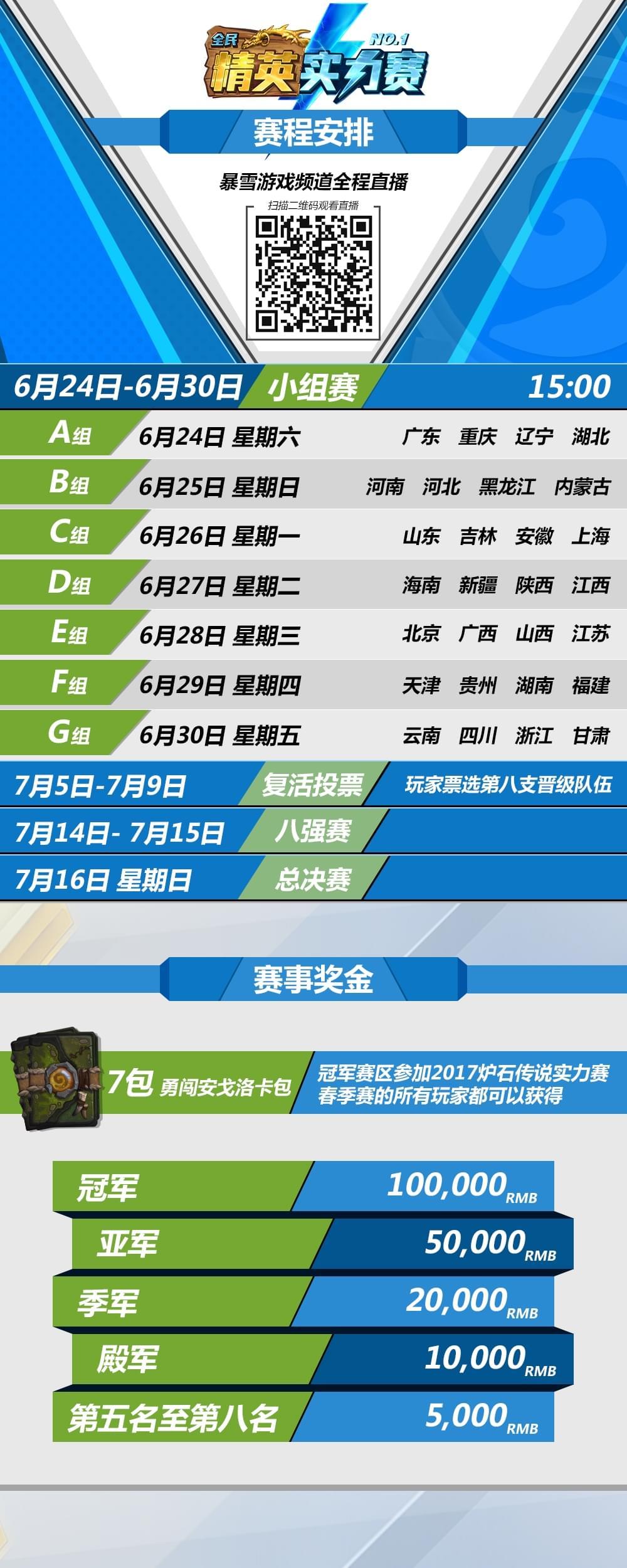 炉石实力赛6月24日开赛 28支队伍上演大逃杀
