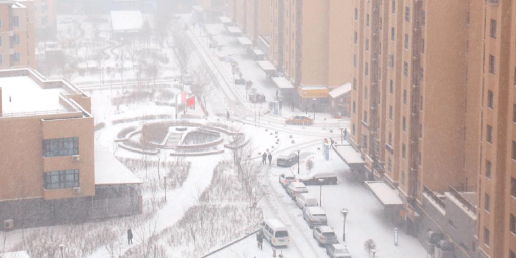 乌鲁木齐:大雪已至 走着走着就白了头
