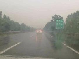 原平到石岭关/董村到豆罗枢纽段雷阵雨 路面湿滑