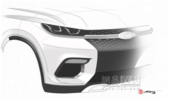 定位高于瑞虎7 奇瑞全新SUV设计图发布