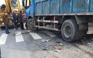 姜堰姜溱线开源路口发生事故 致一死一伤