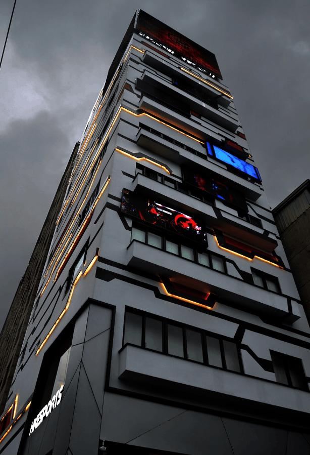 英雄联盟HKE俱乐部CEO造电竞大厦 Tabe出席剪彩