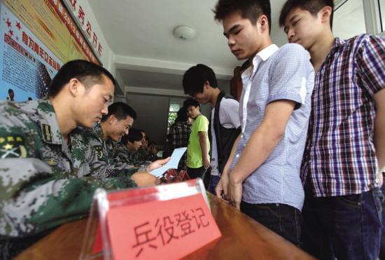 适龄男青年要依法兵役登记 不等同于报名参军