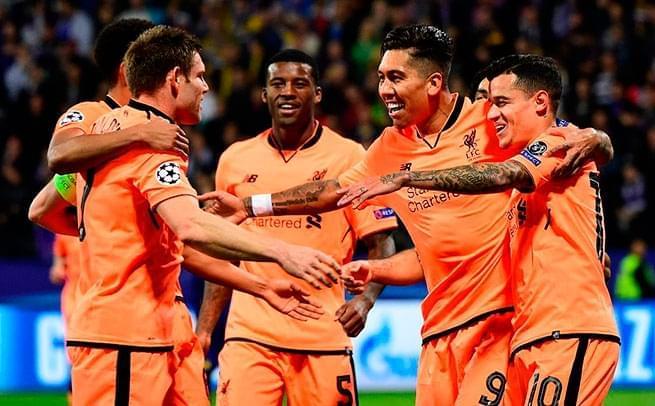 欧冠-利物浦7-0 张伯伦萨拉赫破门