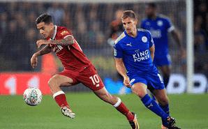 联赛杯-莱斯特2-0送利物浦出局