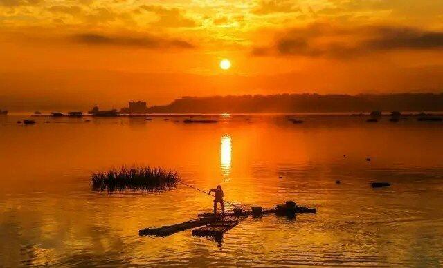 湛江徐闻夕阳海景篇-好大一只诱人的咸蛋黄