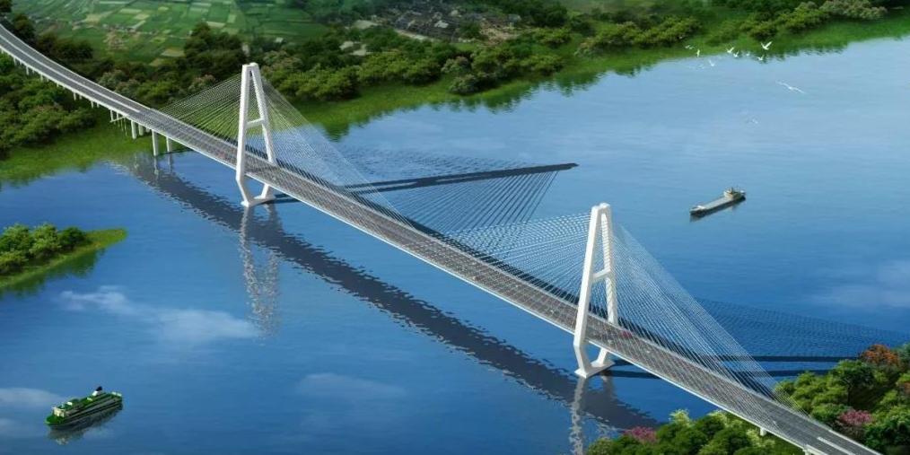 广西最大跨径斜拉桥--平南相思洲大桥