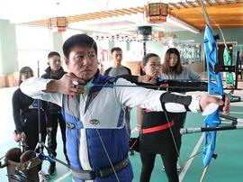 河北迁安青年打造竞技射箭基地