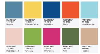 pantone2017年的10大流行色,更多的源于自然,源于原生态:尼加拉蓝领军、樱草黄、青金石蓝、火焰红、草木绿,带着花的香气与树的意象上榜,宛如大卫·霍克的画作,奇妙地表达出了人们对自然的长远怀旧,与对未来的憧憬及渴望.