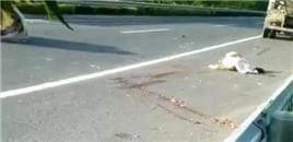 宿迁一路口发生一起严重交通事故