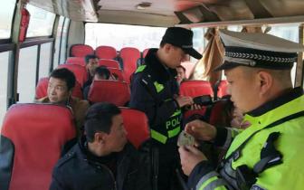 春运40天 沁县交警查处交通违法行为1452起