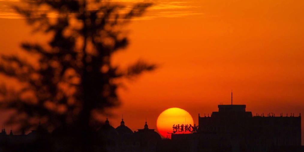北京鸡年最后一个朝霞你看了吗?