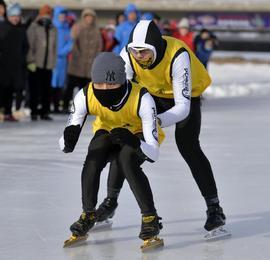 群众组冬季项目比赛掠影
