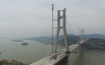 福州长门特大桥预计6月上旬合龙