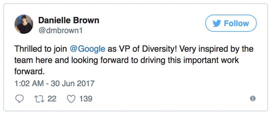 谷歌员工构成:亚裔占35%白人占56%;女性31%
