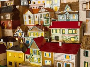 艺术家淘二手玩具屋打造梦幻之城