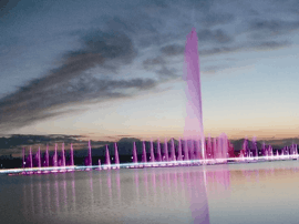 赛里木湖喷泉 如梦如幻如醉