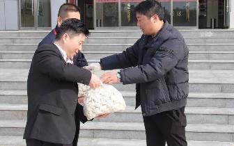 柘城县一被执行人为法院送来百斤水饺表谢意