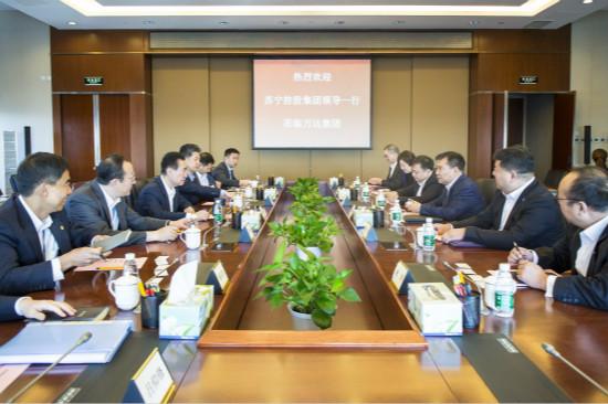 王健林会见苏宁集团董事长张近东