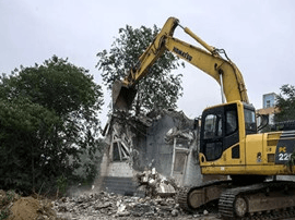 运城市水务局依法对姚暹渠违章建筑进行拆除
