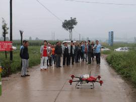闻喜农机局:举办全智能植保无人机现场观摩