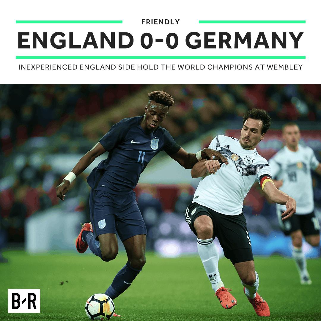 热身赛-萨内击中门框林加德失绝杀 英格兰0-0德国