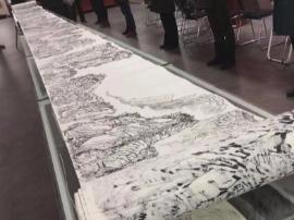 """""""80""""后画家深耕15年 创作600米长卷《八百里太行》"""
