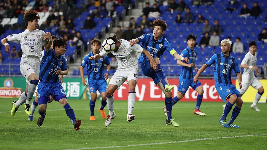 亚冠综述-水原主场3-0蔚山 总分3-1逆转晋级8强