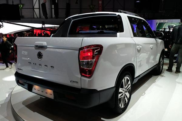 货运版的雷斯特 双龙Musso皮卡车展发布