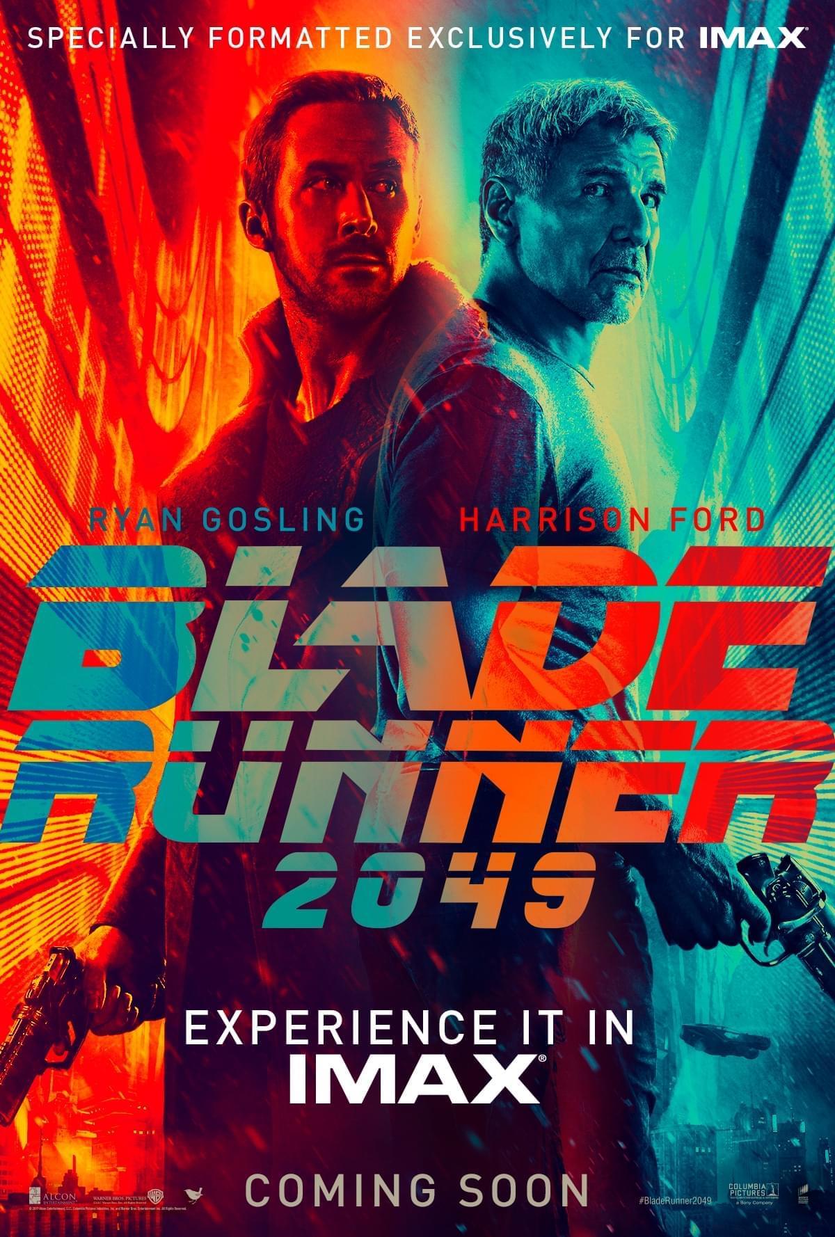 《银翼杀手2049》IMAX海报 高司令哈爷联手作战