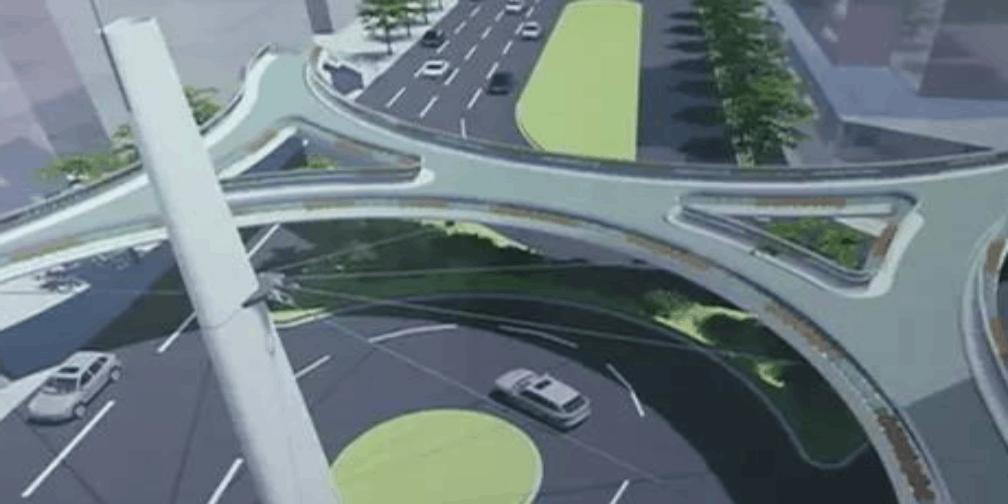 本月底完工:解放路人行天桥即将投入使用