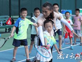 暑假青少年网球公益培训活动拉开序幕,一起吗?