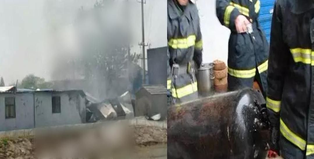 饲料厂煤气罐爆炸起火 祸及周围活动厂房