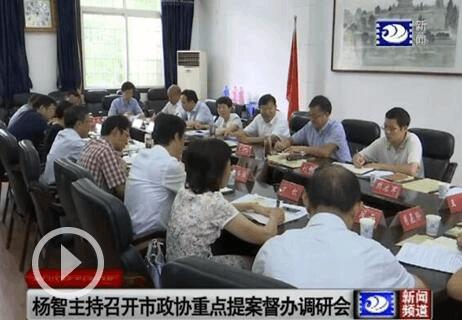 杨智主持召开市政协重点提案督办调研座谈会