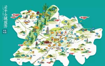 梁平全域旅游手绘地图出炉!带你在意趣中阅览梁平景点!
