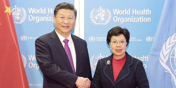 习近平访问世卫组织并会见陈冯富珍总干事